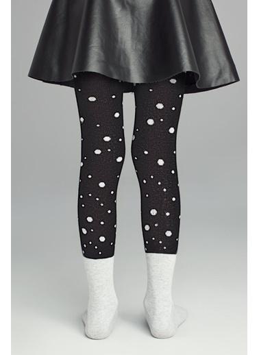 Penti Pretty Snow Cat Külotlu Çorap Siyah